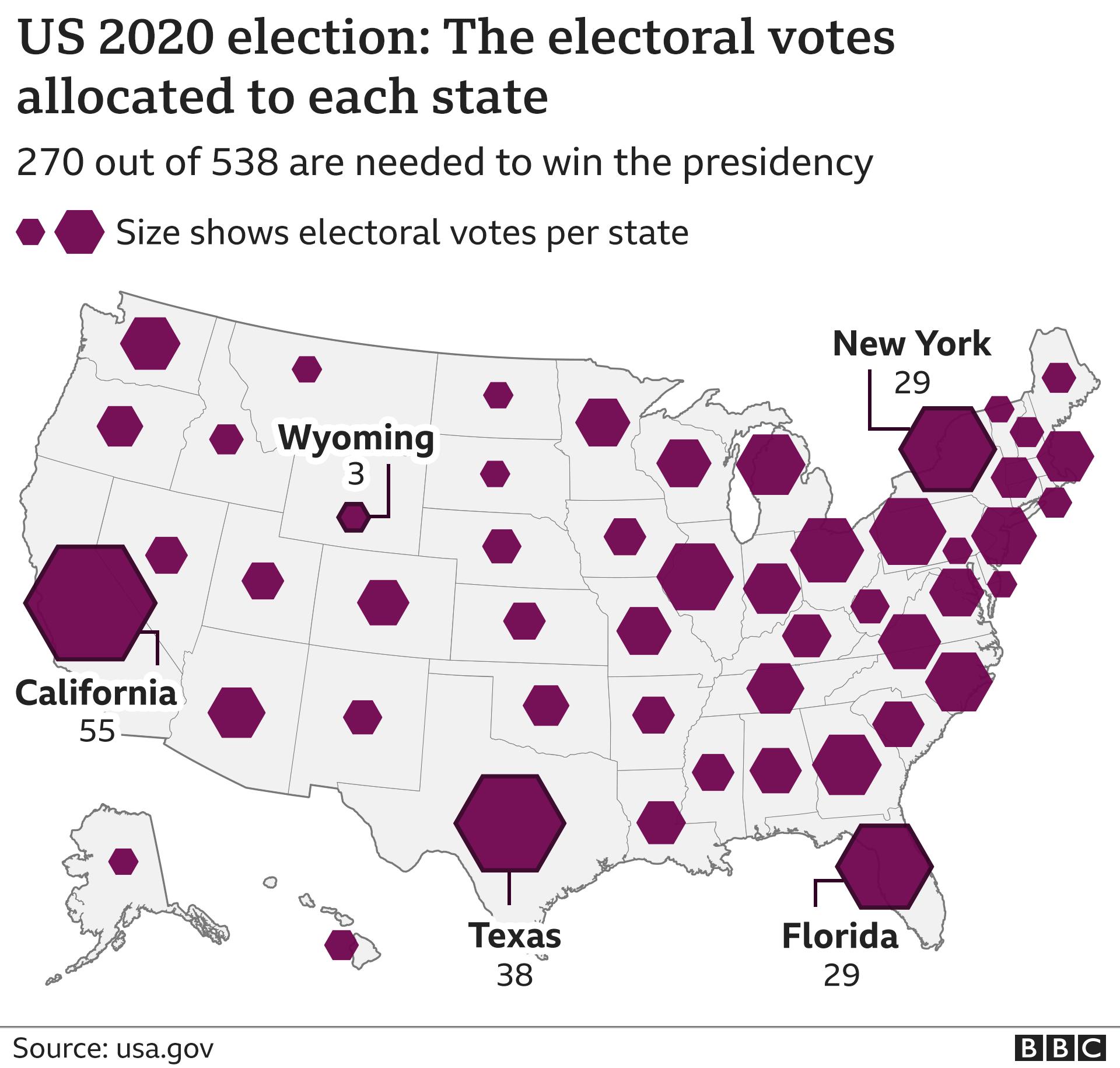 Mapa do colégio eleitoral