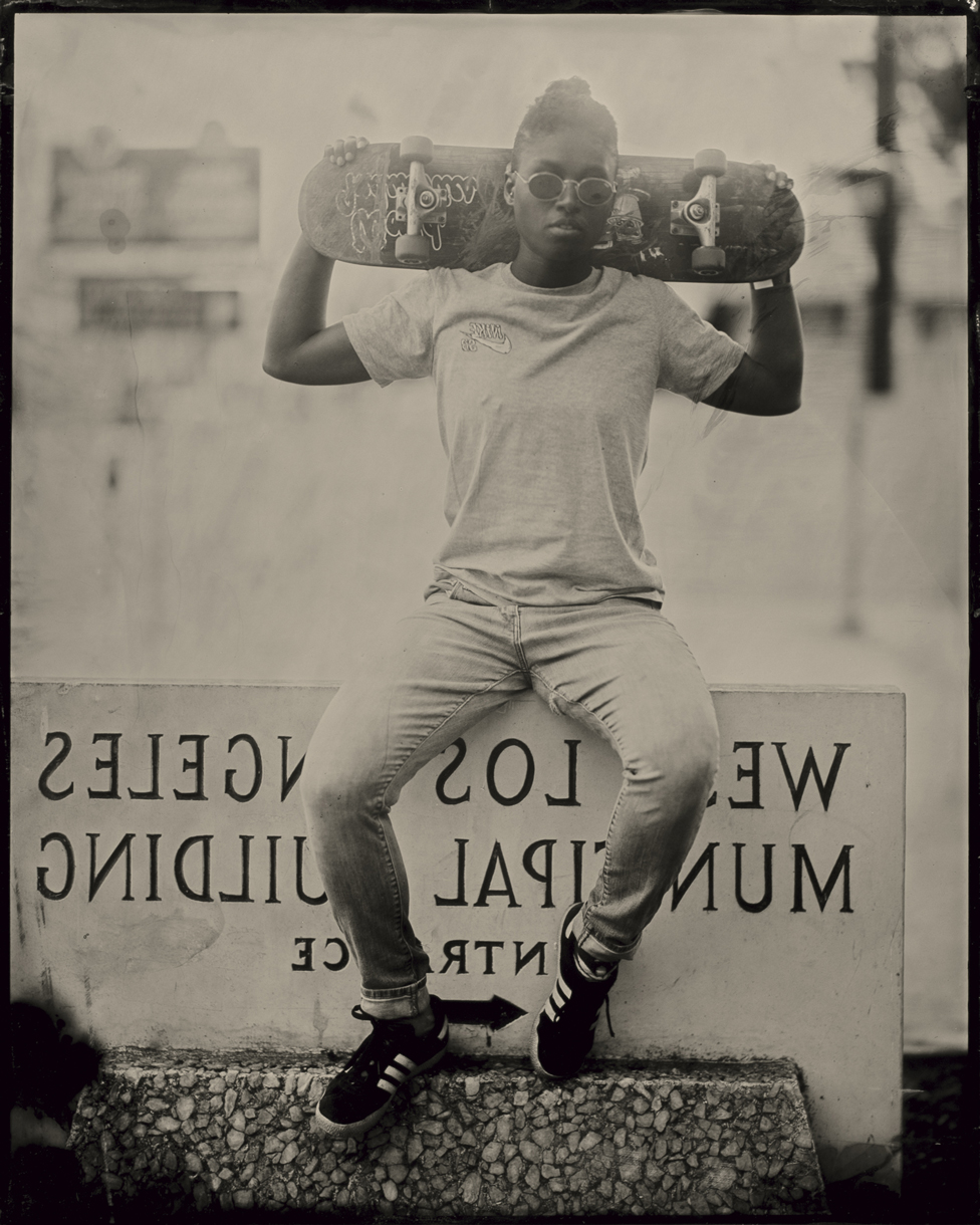 Portrait of a skateboarder