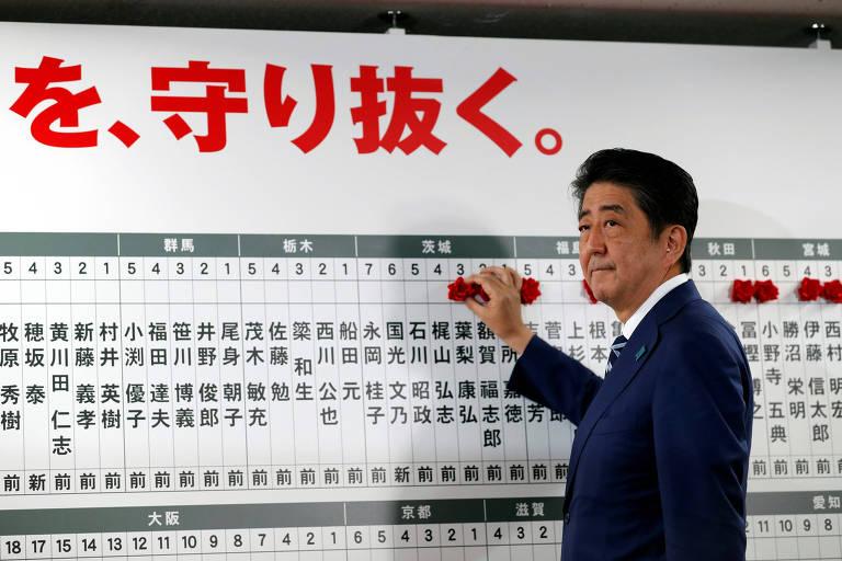 Abe vence eleição com supermaioria e poderá mudar Constituição do Japão - 23/10/2017 - Mundo - Folha de S.Paulo