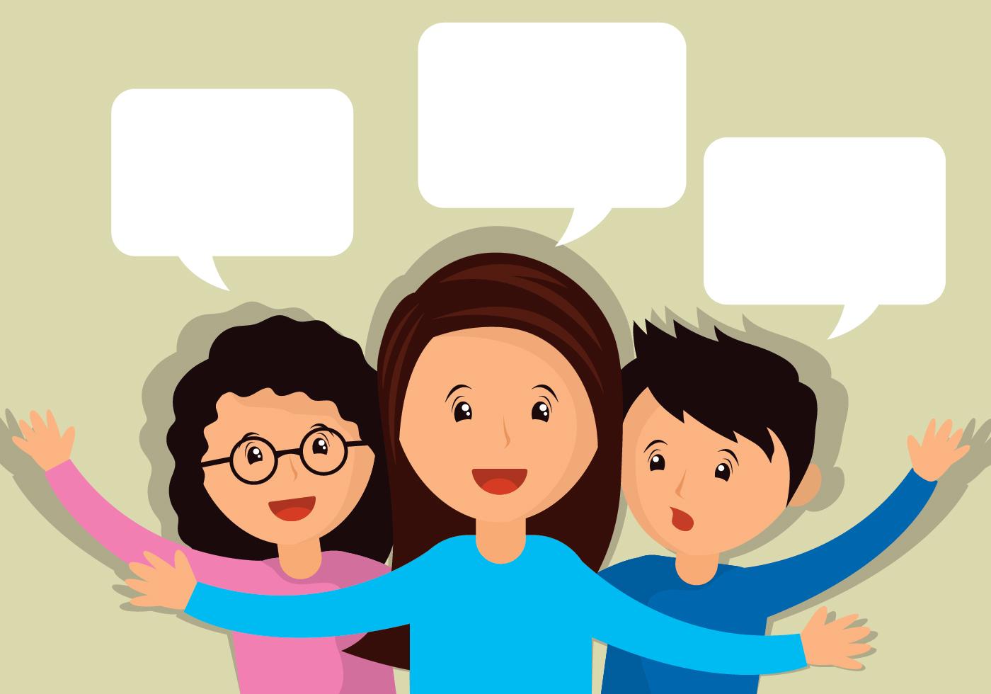 Ilustração de pessoas falando - Download Vetores Gratis, Desenhos ...