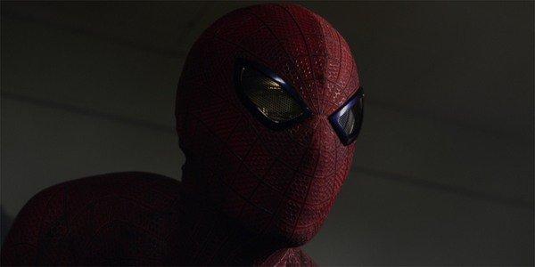 O incrível close da máscara do Homem-Aranha