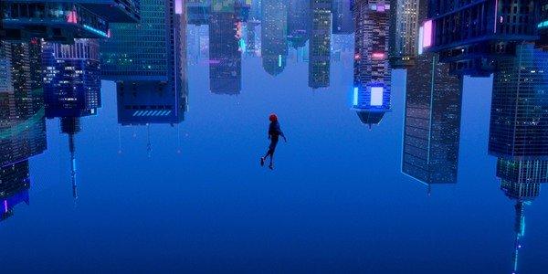 Miles Morales mergulhando no Verso-Aranha