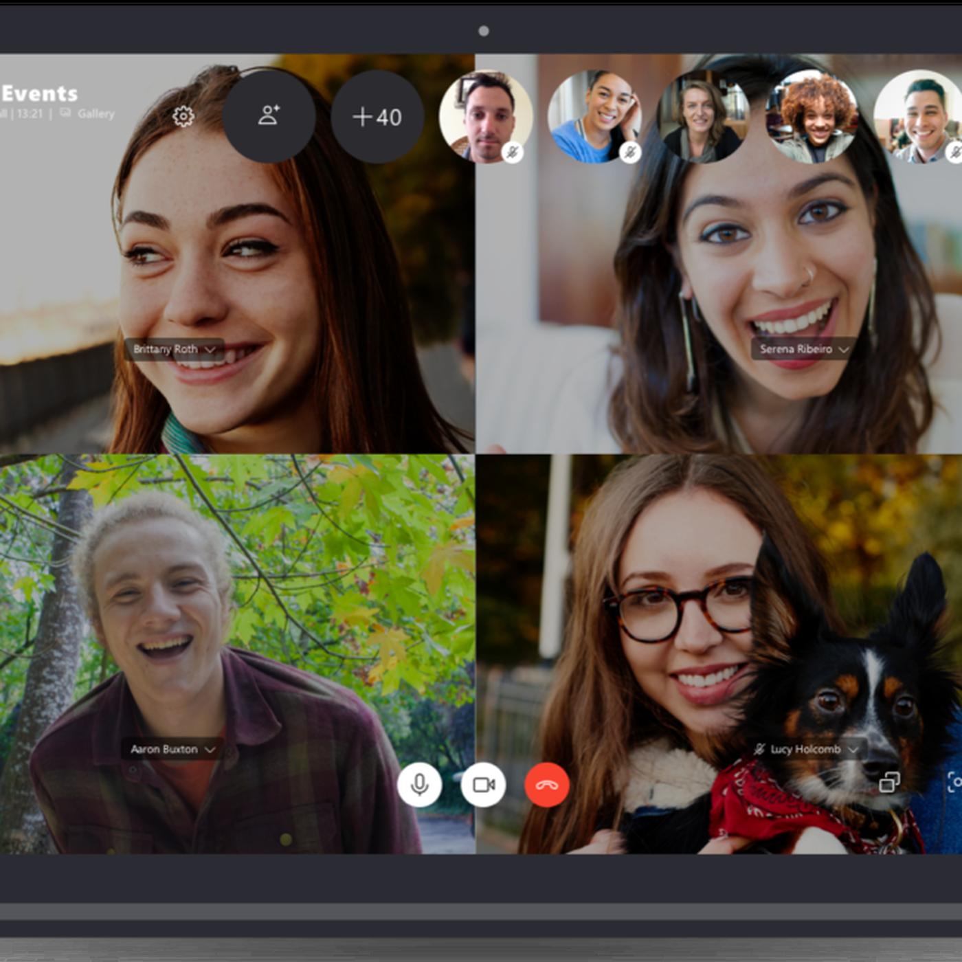 O novo recurso de chat de vídeo em grupo para 50 pessoas da Microsoft para saídas do Skype ...