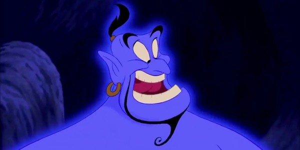 Robin Williams como Gênio em Aladdin (1992)