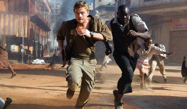 Diamante de sangue Leonardo DiCaprio e Djimon Hounsou correndo