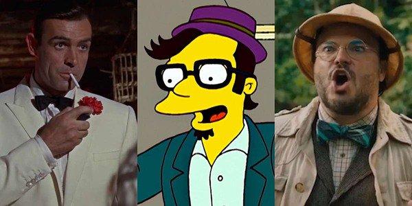 Naquela época, Jack Black estrelou Os Simpsons e tentou fazer uma piada de Bond.