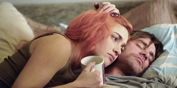 Kate Winslet e Jim Carrey em Eternal Sunshine of the Spotless Mind