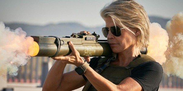 Linda Hamilton em Terminator: Dark Fate