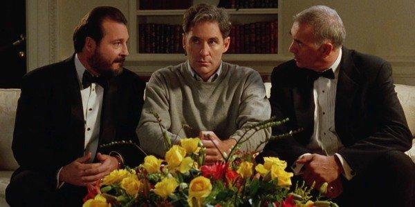 Kevin Dunn, Kevin Kline e Frank Langella em Dave