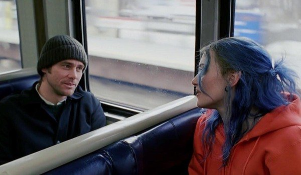 Jim Carrey e Kate Winslet em Eternal Sunshine