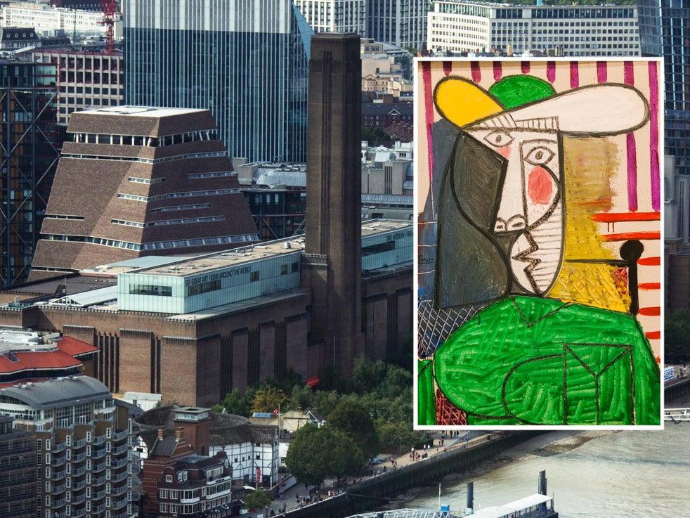 O busto de uma mulher de Picasso (detalhe) estava em exibição na Tate Modern em Londres
