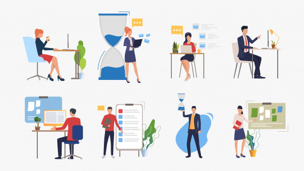 Set of business concept | Free Vector