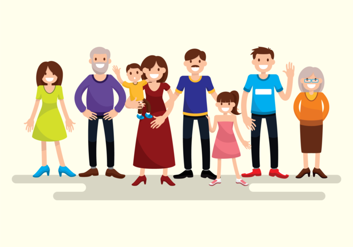 Big Familia Retrato - Download Vetores Gratis, Desenhos de Vetor ...