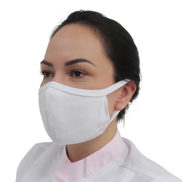 Kit Máscaras de Tecido Dupla Camada 100% Algodão Branca 10pçs Prevemax | Leroy Merlin