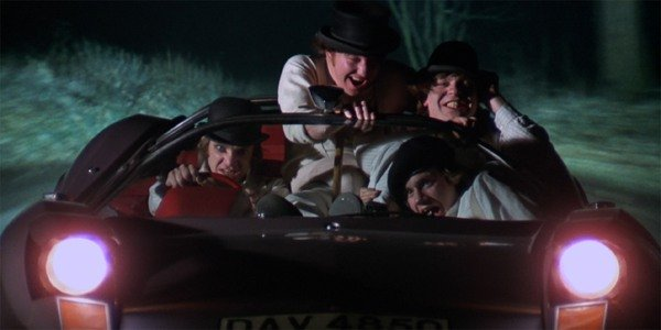 A Clockwork Orange Alex and the Droogs driving