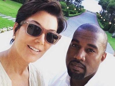 Kris Jenner, Kanye West, Instagram, foto