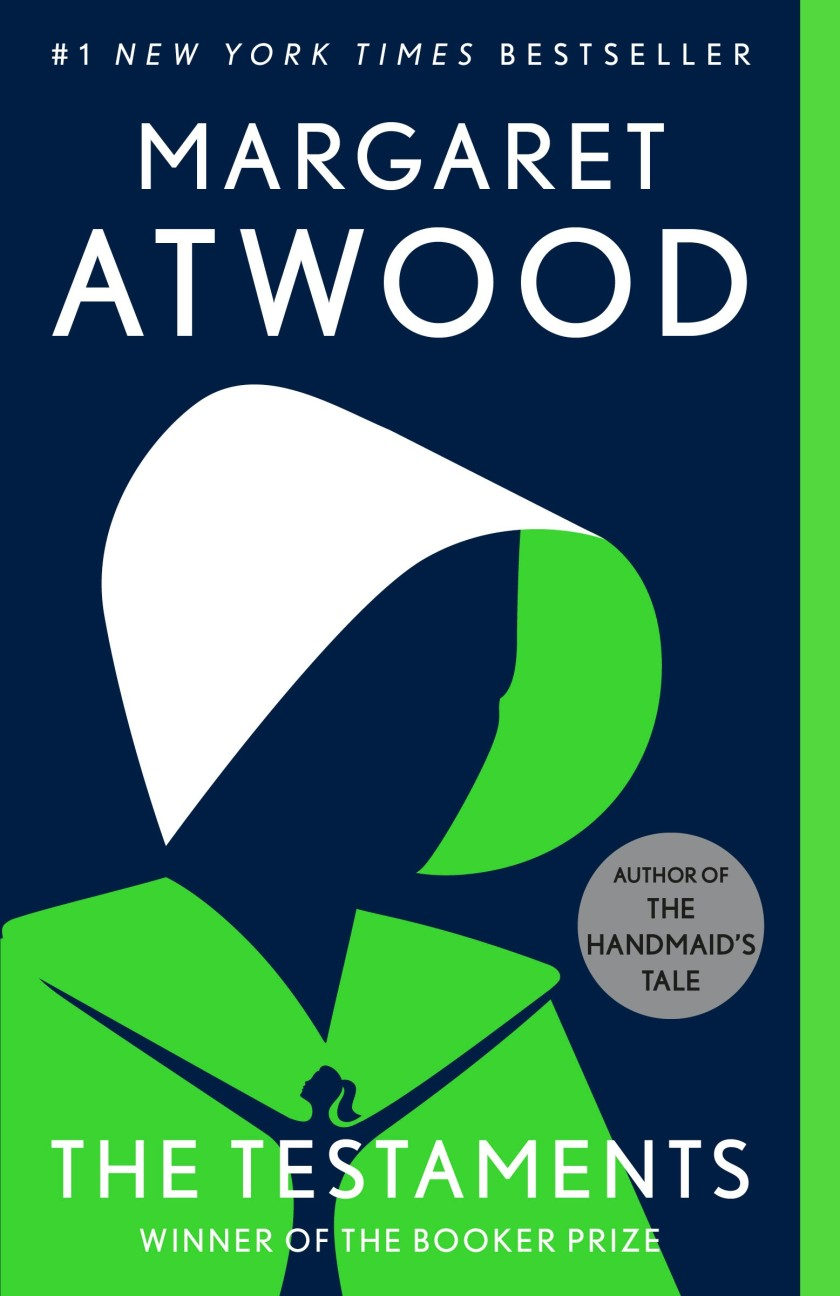 "Book jacket for Margaret Atwood's ""The Testaments."""