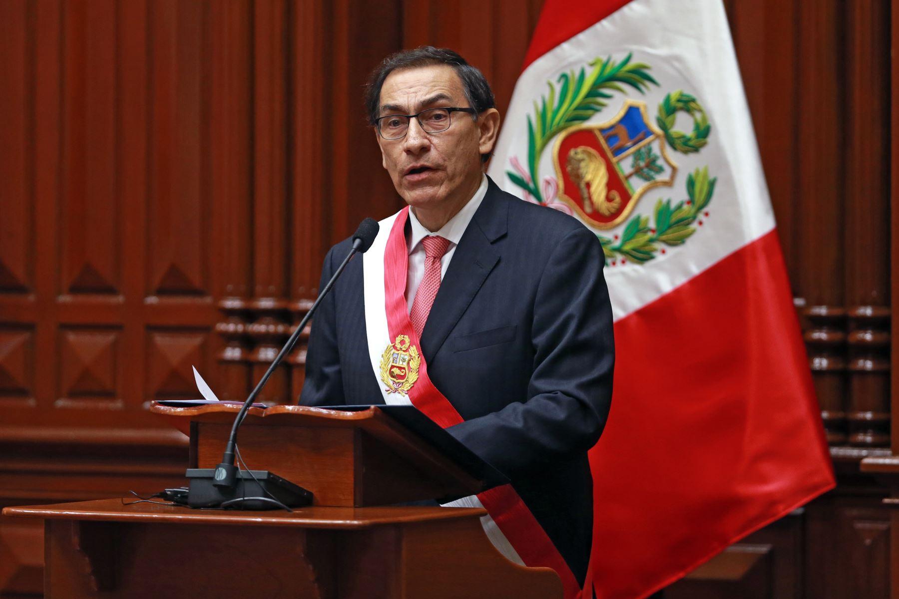 Mensaje del Señor Presidente Martín Vizcarra a la comunidad peruana en el exterior, con ocasión del aniversario de la Independencia Nacional - Representación Permanente del Perú ante la OEA, Washington DC