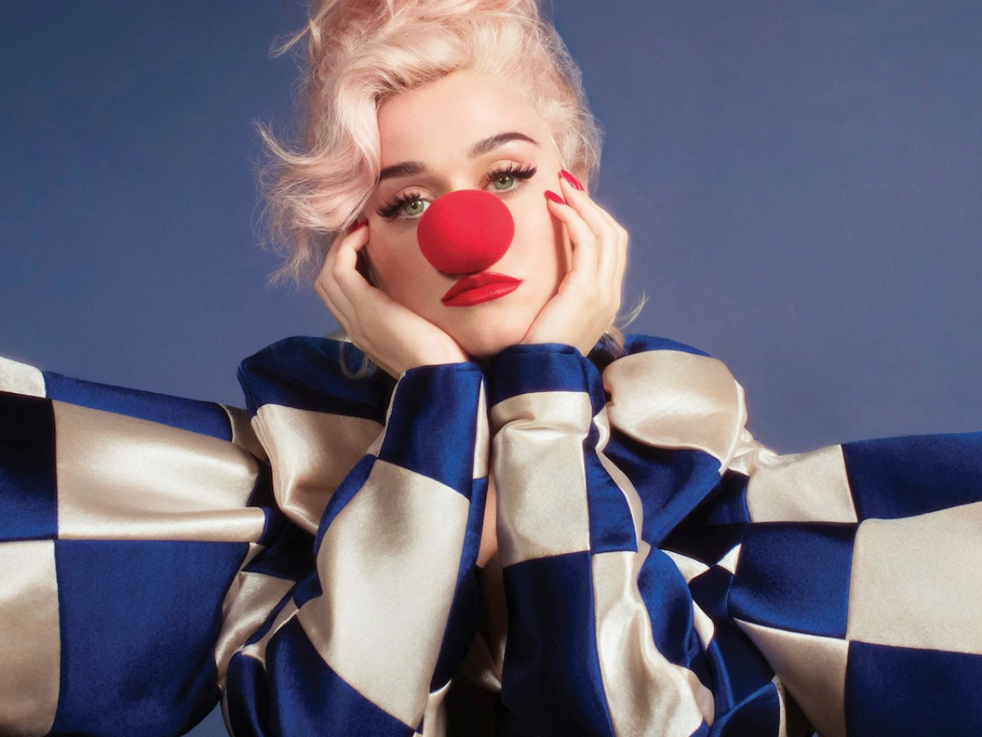 Katy Perry na arte de seu novo álbum, 'Smile'