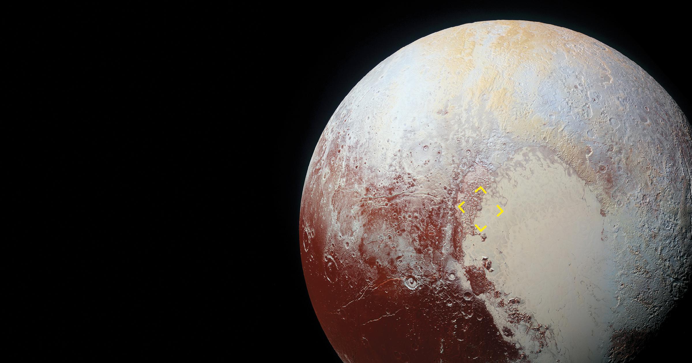 Uma possível origem das dunas de Plutão : Revista Pesquisa Fapesp