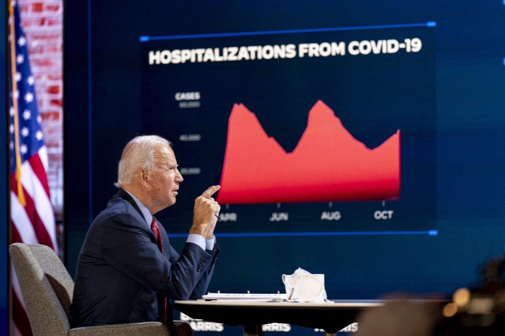 Biden jura não fazer 'falsas promessas' sobre pandemia