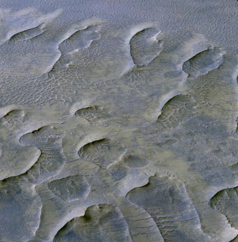 Descoberta de dunas de areia em Marte HiRISE 2020