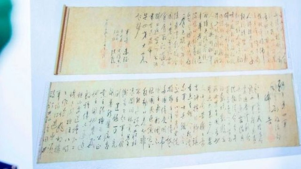 Pergaminho de Mao Tsé Tung de US$ 300 milhões é roubado e cortado ao meio |  Mundo | G1