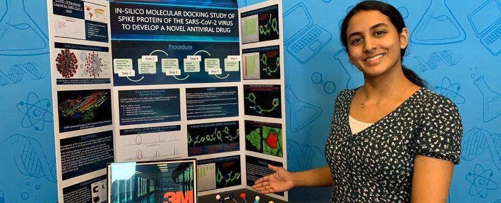 Garota de 14 anos, ganha o maior prêmio de ciências pela descoberta de moléculas de coronavírus, no Texas