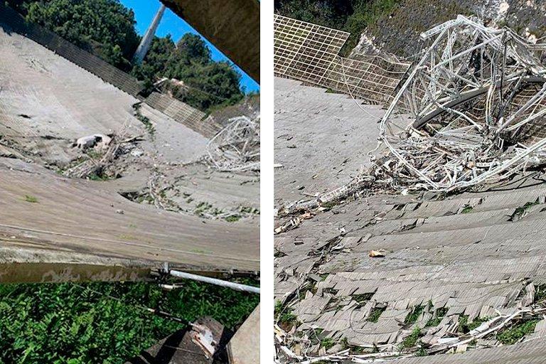 O telescópio Arecibo sofreu um colapso fatal, quebrando-o em pedaços