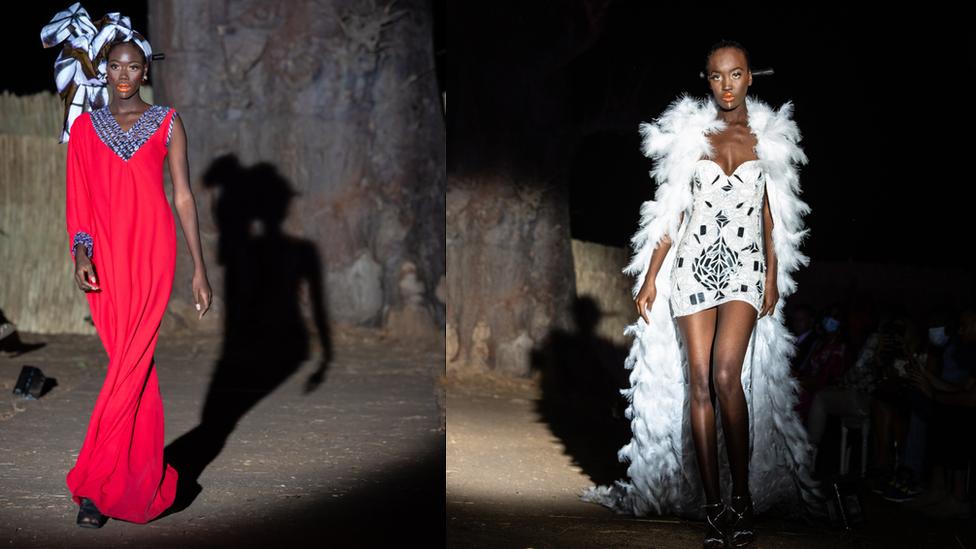 Semana da moda de Dakar no Senegal: a passarela em uma floresta de baobás