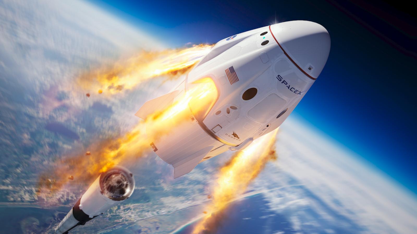 Protótipo de nave espacial SpaceX lançado com sucesso... e, em seguida, caiu em uma enorme bola de fogo